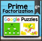 TEKS 6.7A ✩ Prime Factorization ✩ Google Sheets Puzzle Activity
