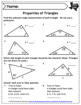 TEKS 6.8 Worksheets ⭐ Expressions, Equations, & Relationships: Geometry ⭐ STAAR