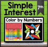 TEKS 7.13E ✩ Calculate & Compare Simple Interest ✩ Google Sheets Activity