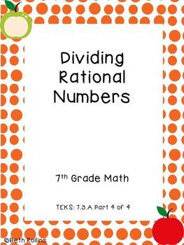 TEKS 7.3.A Dividing Rational Numbers Part 4 of 4 Scavenger Hunt