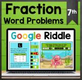 TEKS 7.3B ✩ Multi-Step Fraction Word Problems ✩ Google She