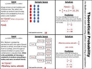TEKS 7.6D Theoretical Probability