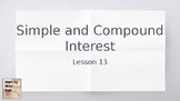 TEKS 8.12 Simple and Compound Interest - Teacher PowerPoint
