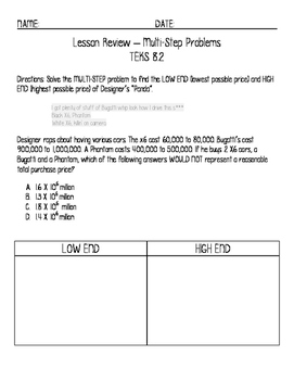 "TEKS 8.2 Scientific Notation using lyrics from ""Panda"" by"