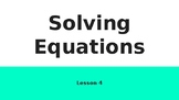 TEKS 8.8C Solving Equations-Teacher PowerPoint