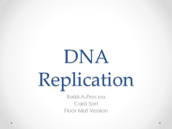 TEKS 9D DNA Replication Build A Process Floor Map Card Sort