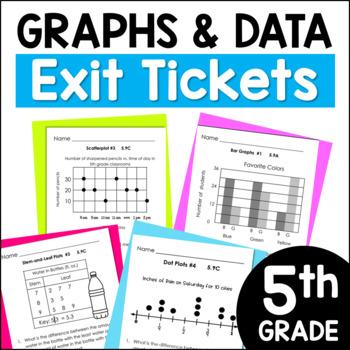 TEKS Aligned Exit Slips:Dot Plots, Stem-and-Leaf Plots, Scatterplots & More!