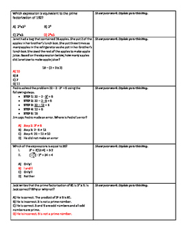 TEKS Based Order of Operations Guided Notes & Review