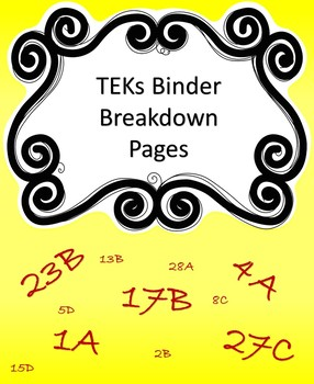 TEKS Breakdown Sheet