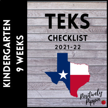 TEKS Checklist Bundle K-5 (9 Weeks Checks)