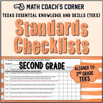 Math TEKS Checklists, 2nd Grade