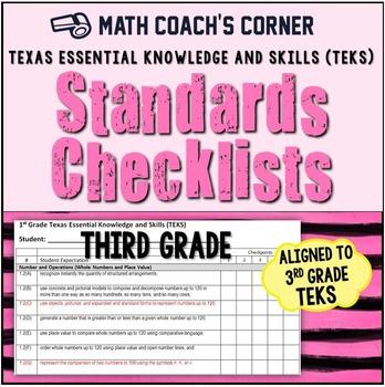 Math TEKS Checklists, 3rd Grade