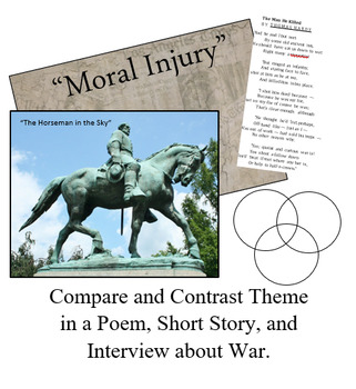 TEKS: Compare/Contrast Theme in Poem, Story, Interview (War)