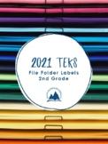 TEKS File Folder Labels - 2nd Grade (Core Content Areas)