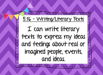 """TEKS """"I Can"""" statements, 5th Grade Writing, Legal and Letter Sized"""