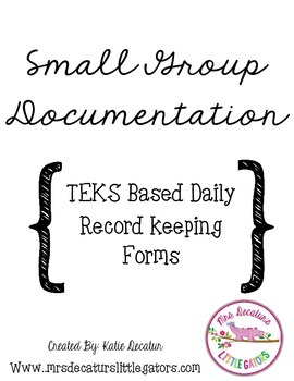 TEKS Intervention Small Group Records/Lesson Plan Template