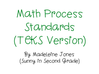TEKS Math Process Standards Posters