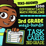 Math STAAR Prep Task Cards ★ 3rd Grade STAAR Math Review ★ 1200 TEKS Task Cards
