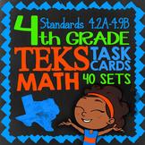 TEKS Math Task Cards ★ 41 Sets ★  Math TEKS 4.2A-4.9B ★ 4th Grade TEKS Bundle