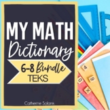 TEKS MIDDLE SCHOOL MATH VOCABULARY BUNDLE ~MY MATH DICTIONARY & PLC TOOLS