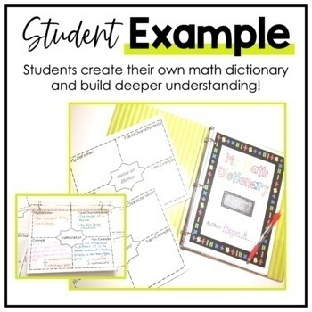 TEKS MIDDLE SCHOOL MATH VOCABULARY BUNDLE ~MY MATH DICTIONARY & PLC TOOLS