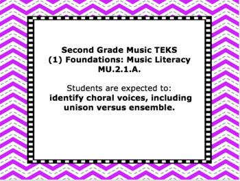 TEKS Mini-Posters for Elementary Music