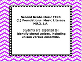 TEKS Mini-Posters for Elementary Music