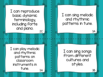 "TEKS Music ""I Can"" Statements for Second Grade"