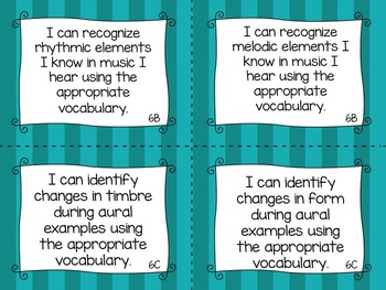 "TEKS Music ""I Can"" Statements for Third Grade"