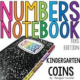 TEKS Numbers Notebook Coins Kindergarten
