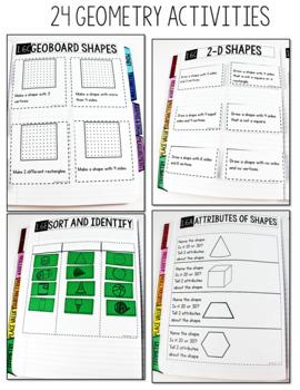 TEKS Numbers Notebook Geometry First Grade