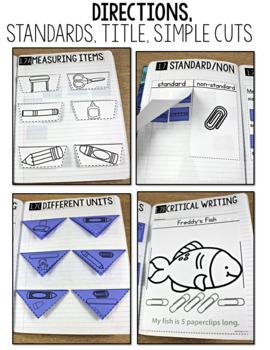 TEKS Numbers Notebook Measurement First Grade