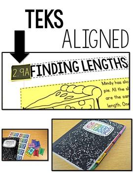TEKS Numbers Notebook Measurement Second Grade