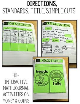 TEKS Numbers Notebook Money First Grade
