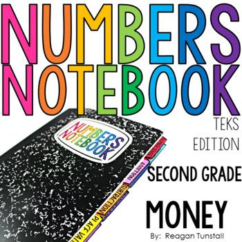 TEKS Numbers Notebook Money Second Grade