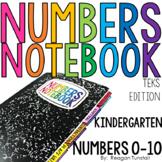 TEKS Numbers Notebook Numbers 0 to 10 Kindergarten