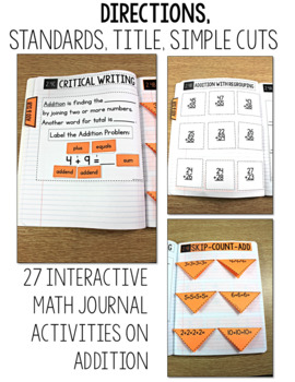 TEKS Numbers Notebook Second Grade Addition Subtraction