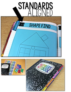 TEKS Numbers Notebook Shapes and Solids Kindergarten