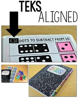 TEKS Numbers Notebook Subtraction Kindergarten