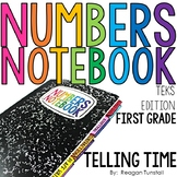 TEKS Numbers Notebook Telling Time First Grade