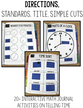 TEKS Numbers Notebook Telling Time Second Grade