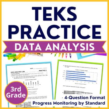 3rd Grade TEKS PRACTICE ~ DATA ANALYSIS STAAR TEST PREP 3.8A 3.8B