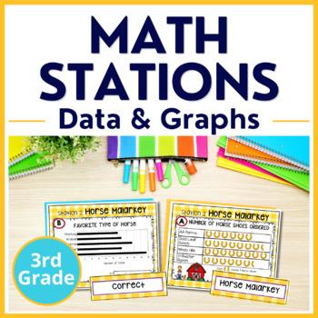 3rd Grade Data Analysis Math Centers TEKS 3.8A 3.8B