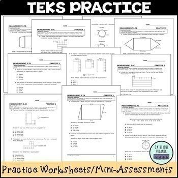 TEKS PRACTICE ~ MEASUREMENT 3.7B 3.6C 3.6B 3.7C 3.7D 3.7E STAAR PREP