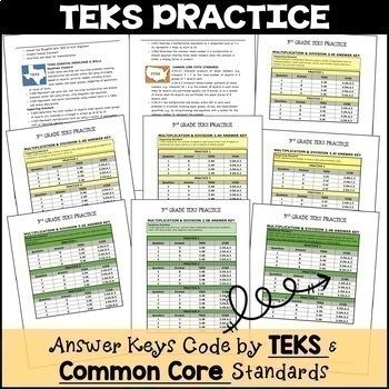 3rd Grade TEKS PRACTICE MULTIPLICATION & DIVISION 3.4K 3.5B 3.5E 3.4G 3.4J 3.4D