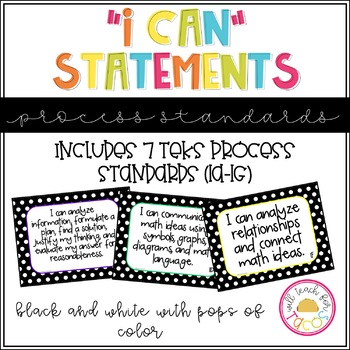 "TEKS Process Standards ""I Can"" Statements"