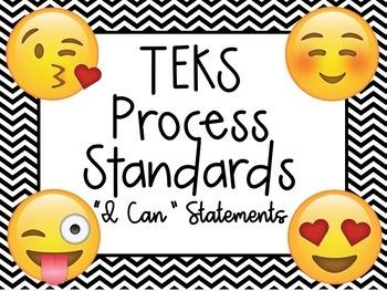 "TEKS Process Standards ""I Can"" Statements Emoji"
