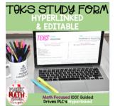 TEKS Study Form (Detailed and Hyperlinked)