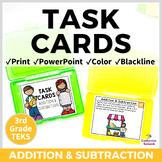 3rd Grade TEKS TASK CARDS ~ ADDITION & SUBTRACTION 3.4A 3.4B  STAAR Aligned
