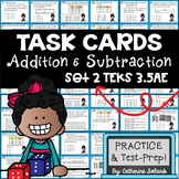 3rd Grade TEKS TASK CARDS ~ ADDITION & SUBTRACTION 3.5A 3.5E STAAR Aligned